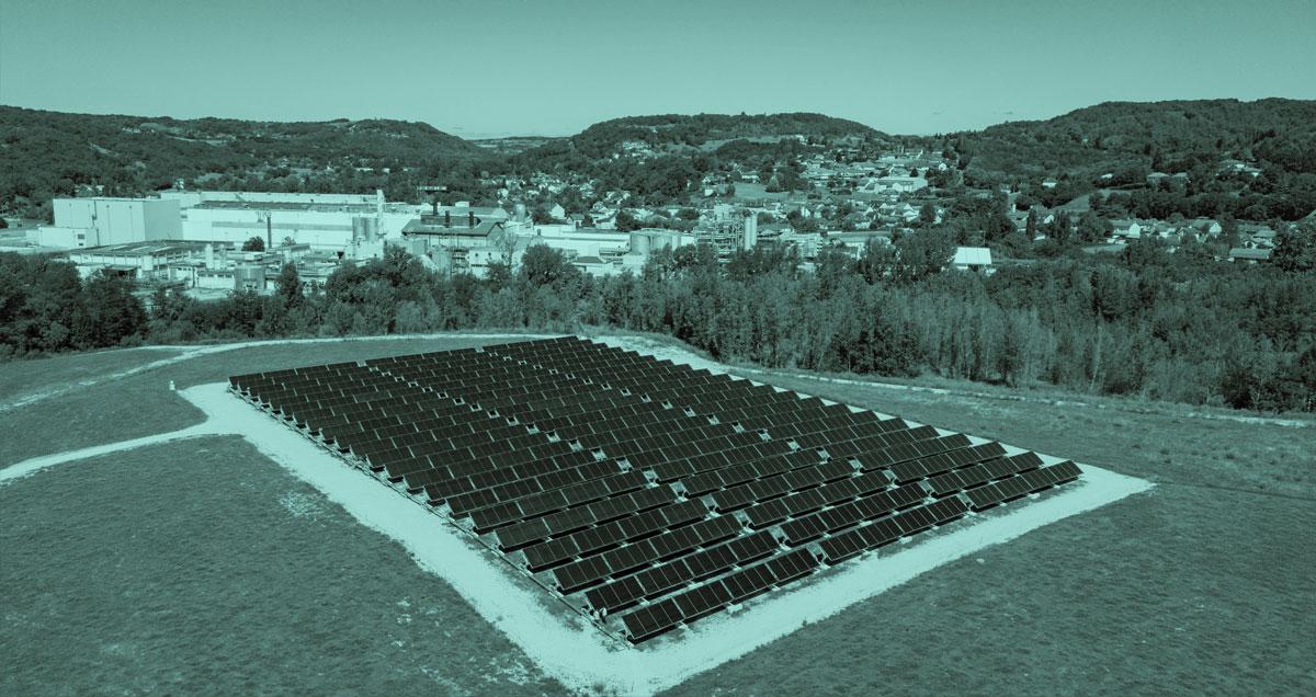 Centrale solaire thermique de CONDAT (24) – crédit photo NEWHEAT